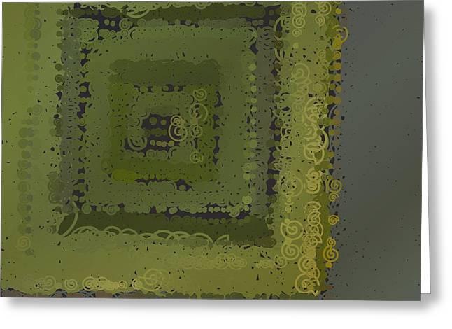 Greeting Card featuring the digital art Pattern 208 by Marko Sabotin
