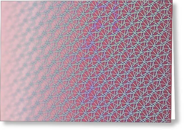 Greeting Card featuring the digital art Pattern 212 by Marko Sabotin