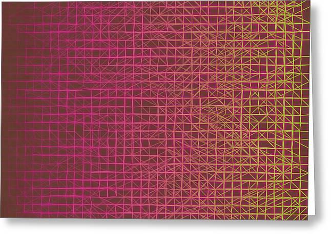 Greeting Card featuring the digital art Pattern 217 by Marko Sabotin