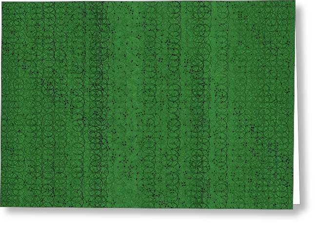 Greeting Card featuring the digital art Pattern 224 by Marko Sabotin