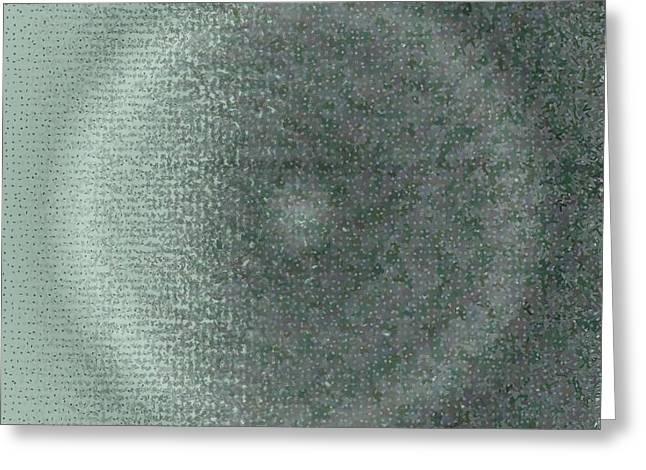 Greeting Card featuring the digital art Pattern 228 by Marko Sabotin
