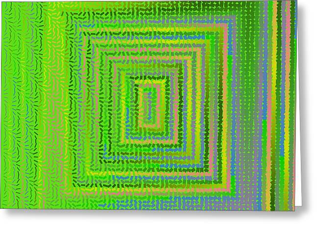 Greeting Card featuring the digital art Pattern 231 by Marko Sabotin