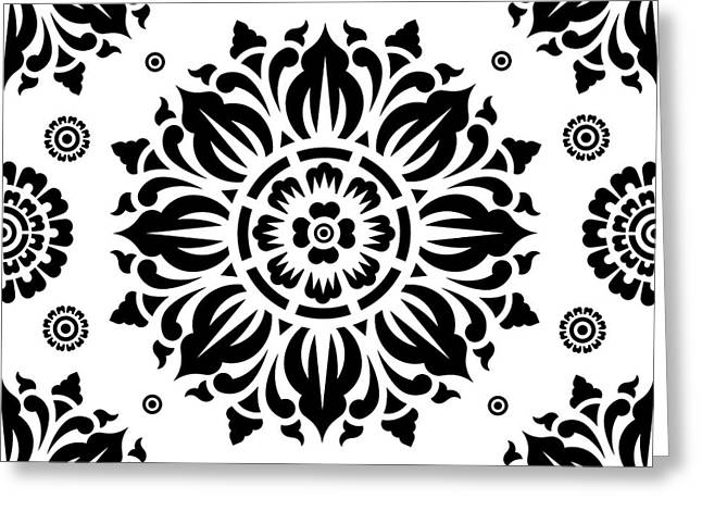 Pattern Art 01-2 Greeting Card by Bobbi Freelance