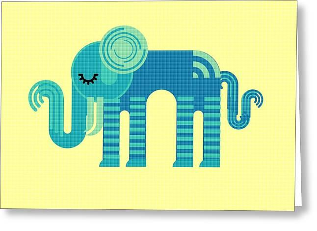 Pattern Elephant Greeting Card