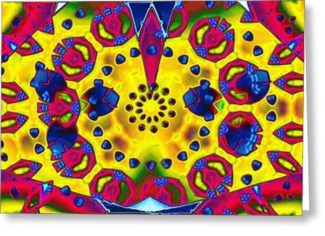 Pattern Intersect Greeting Card by Ron Bissett