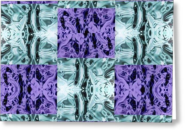 Ultra Violet  And Water  Greeting Card
