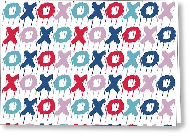 Pattern X O  Greeting Card