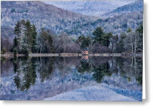 Patterns And Reflections At The Lake Greeting Card
