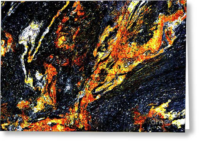 Greeting Card featuring the photograph Patterns In Stone - 187 by Paul W Faust - Impressions of Light