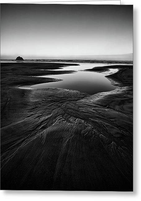 Greeting Card featuring the photograph Patterns In The Sand by Jon Glaser