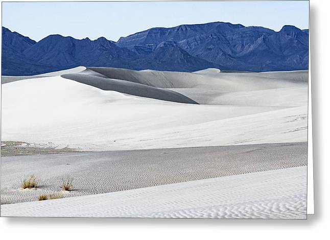 Patterns On White Sands - New Mexico Greeting Card by Ellie Teramoto