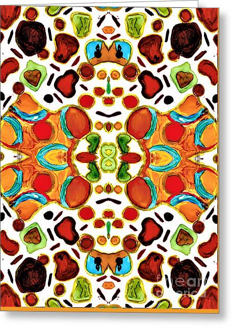 Patterns Within Patterns Greeting Card