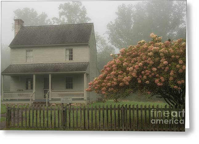 Patterson House And Fog Greeting Card