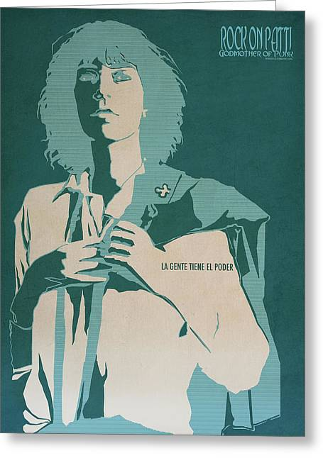 Stencil Art Greeting Cards - Patti Smith Greeting Card by Nelson Garcia