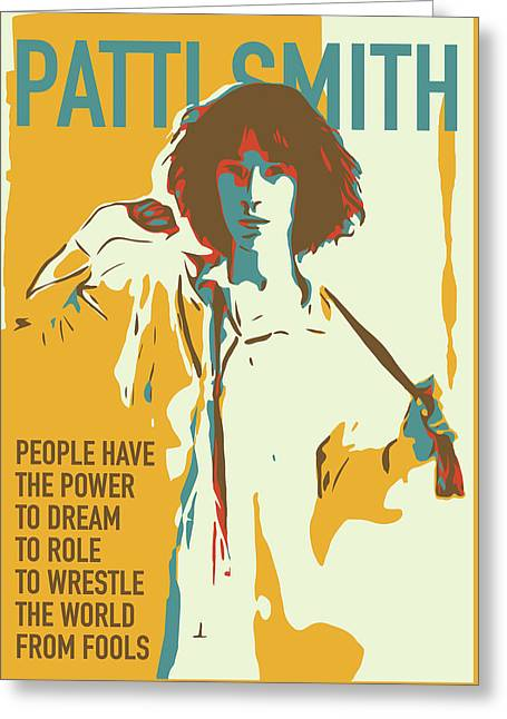 Patti Smith Greeting Card by Greatom London