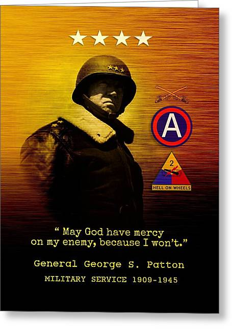 Patton Tribute Greeting Card by John Wills