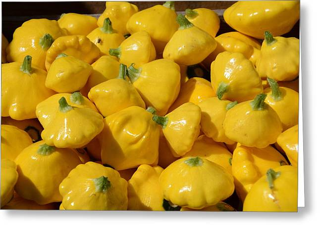 Patty Pan Squash Greeting Card