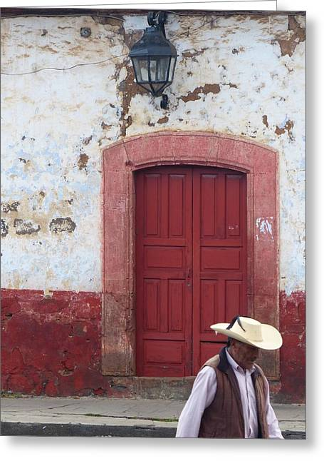 Patzcuaro Street Scene Greeting Card