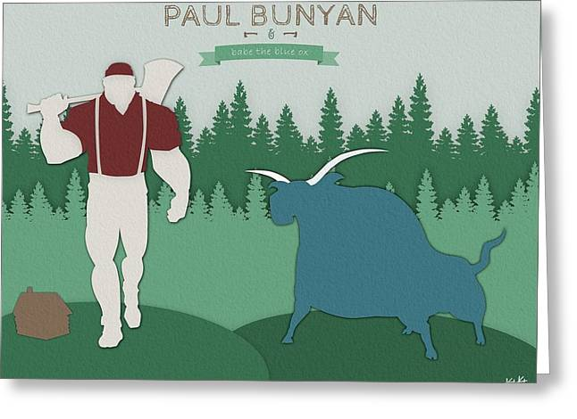 Paul And Babe Greeting Card by Kody Knoche