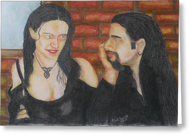 Gothic Pastels Greeting Cards - Paul and Rebecca Trapp Greeting Card by Neil Trapp