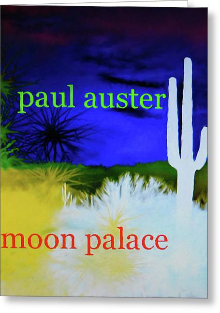 Paul Auster Poster Moon Palace Greeting Card