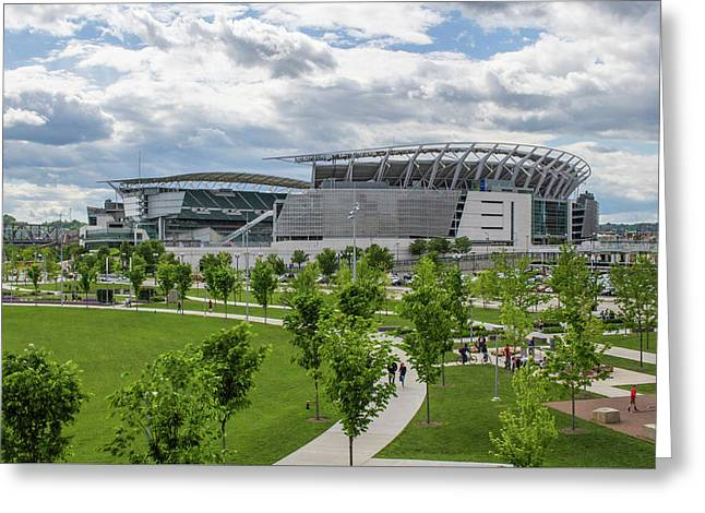 Paul Brown Stadium Color Greeting Card by Scott Meyer