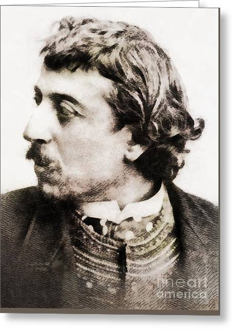 Paul Gauguin, Infamous Artist Greeting Card by John Springfield