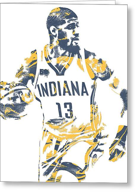 Paul George Indiana Pacers Pixel Art 10 Greeting Card