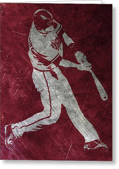 Paul Goldschmidt Arizona Diamondbacks Art Greeting Card by Joe Hamilton