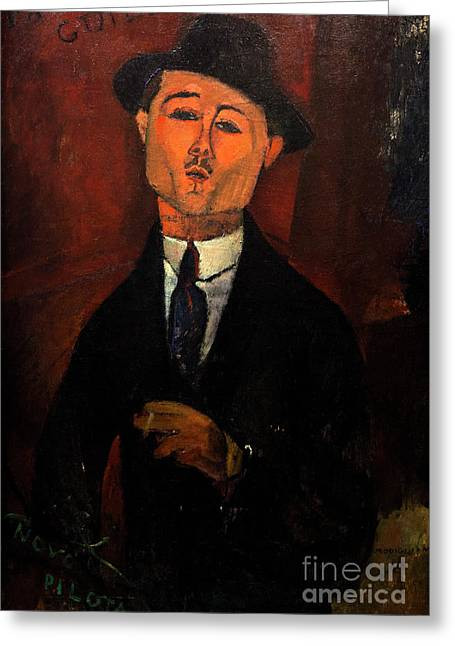 Paul Guillaume, Novo Pilota, By Amedeo Modigliani, 1915, Musee D Greeting Card