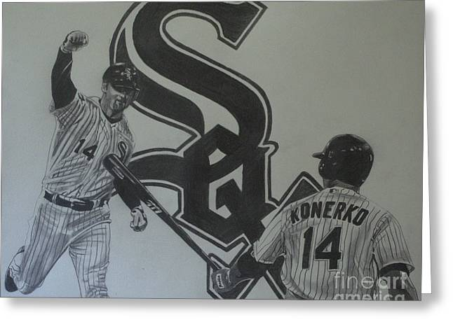 Paul Konerko Collage Greeting Card