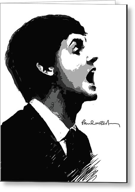 Paul Mccartney Greeting Card by Unknown