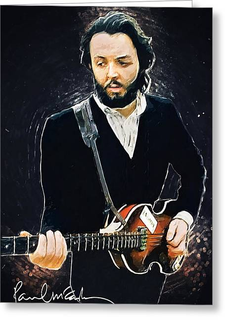 Paul Mccartney Greeting Card