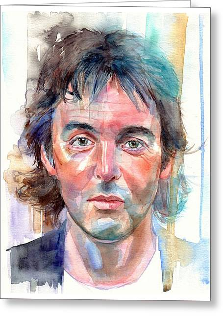 Paul Mccartney Young Portrait Greeting Card