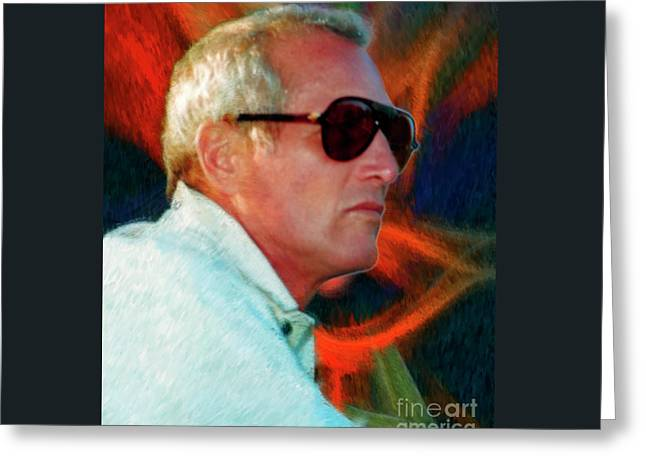 Paul Newman Greeting Card by Blake Richards