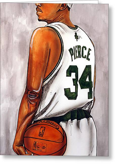 Boston Celtics Greeting Cards - Paul Pierce - The Truth Greeting Card by Dave Olsen