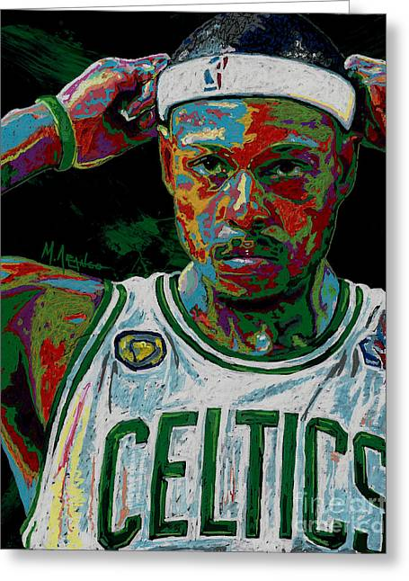 Paul Pierce Greeting Card by Maria Arango