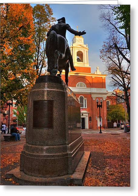 Paul Revere Mall - North End - Boston Greeting Card by Joann Vitali