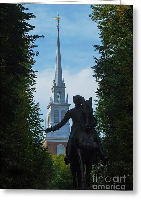 Paul Revere Old North Church Boston Greeting Card