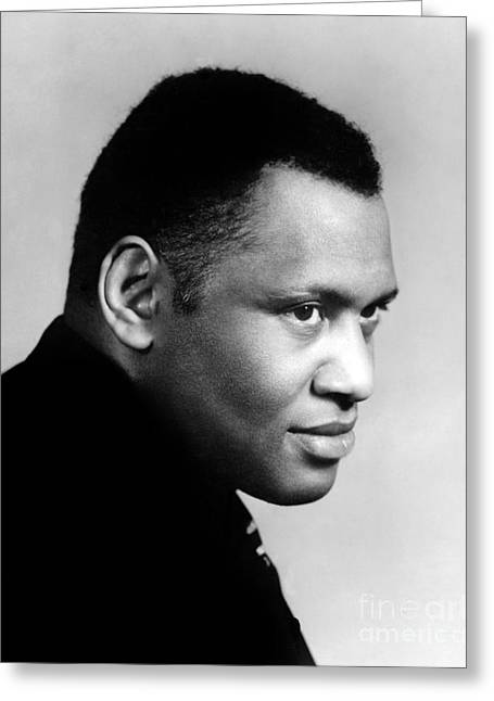 Greeting Card featuring the photograph Paul Robeson by Granger