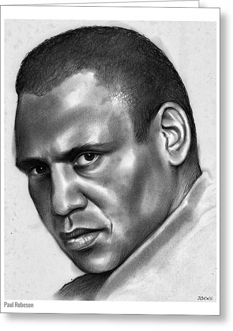 Paul Robeson Greeting Card by Greg Joens
