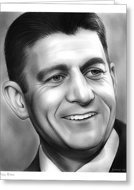 Paul Ryan Greeting Card by Greg Joens