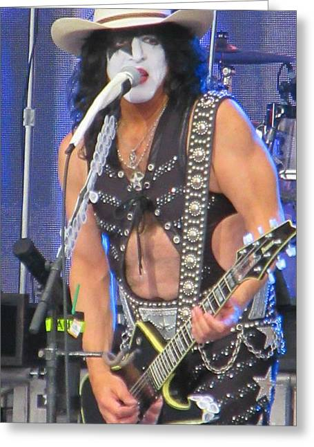 Paul Stanley With Calgary Stampede Hat Greeting Card by John Malone