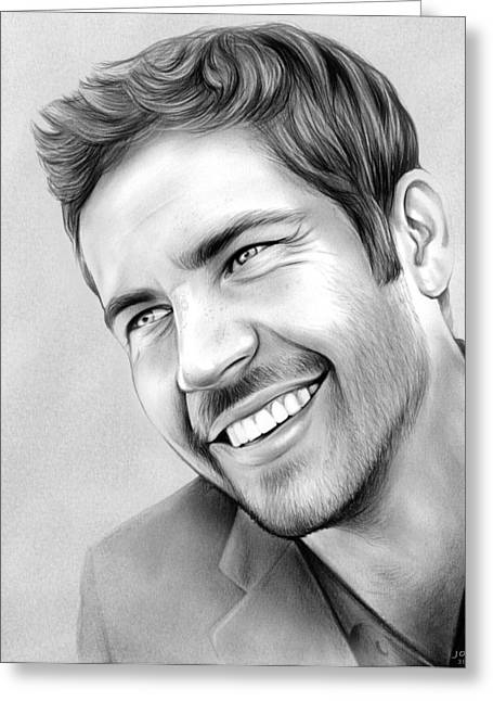 Paul Walker Greeting Card by Greg Joens