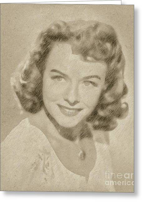 Paulette Goddard Vintage Hollywood Actress Greeting Card by Frank Falcon