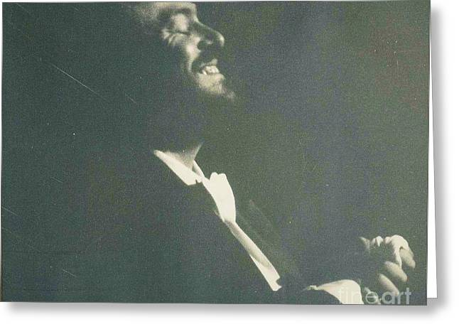 Pavarotti Accepts Applause Greeting Card by Allen Meyer