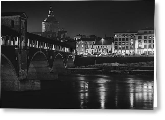 Pavia At Night Greeting Card