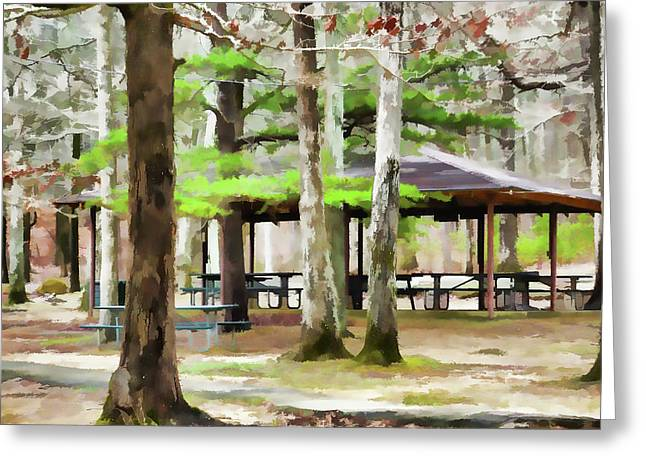 Pavilion At Cheaha State Park Greeting Card
