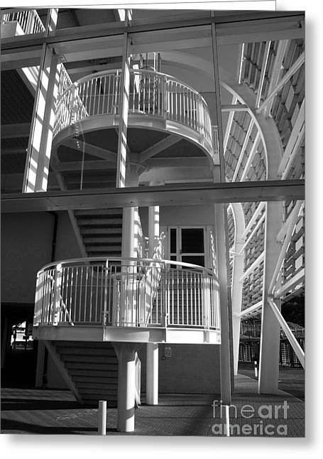 Pavilion Stairs At The Ageas Rose Bowl Greeting Card by Terri Waters