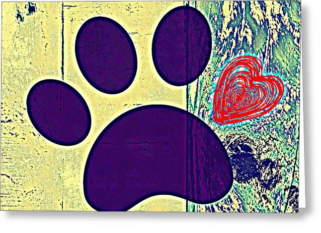 Paw Print Greeting Card by Brandi Fitzgerald